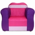 The Great Chair in Pink and Purple Microsuede