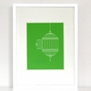 The Great Escape Birdcage Art Print