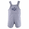 The Hamptons Gingham Shortalls in Blue