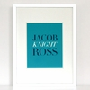 The Name Game Classic Personalized Art Print