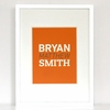 The Name Game Modern Personalized Art Print