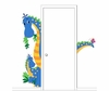 The Peek-a-saurus Paint by Number Wall Mural