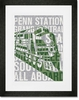 The Places He'll Go Train Framed Art Print