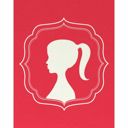 The Ponytail Cameo Girl Silhouette Art Print