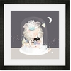 The Sleepy Snow Framed Art Print