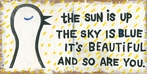 The Sun Is Up Vintage Canvas Print on Wood