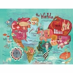 The World Canvas Wall Art