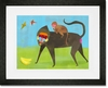 These Baboons are Bananas Framed Art Print