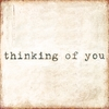 Thinking Of You Small Vintage Canvas Print on Wood