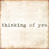 Thinking of You Vintage Art Print on Wood