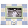 Third Birthday Picture Frame in Blue & Green