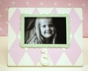 Third Birthday Picture Frame in Pink & Green