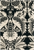 Thomaspaul Damask Rug in Black