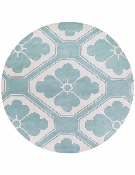 Thomaspaul Modern Floral Rug in Blue