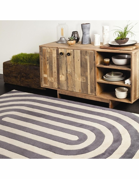 Thomaspaul Modern Lines Rug in Gray