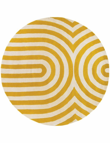 Thomaspaul Modern Lines Rug in Yellow