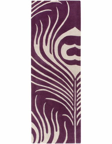 Thomaspaul Plum Feather Rug