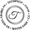 Thompson Initial Personalized Self-Inking Stamp