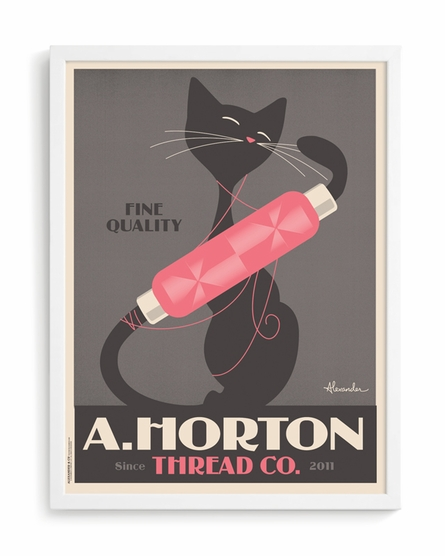 Thread Custom Framed Art Print