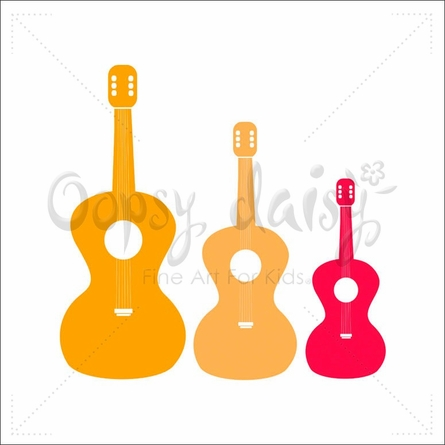 Three Guitars Canvas Wall Art
