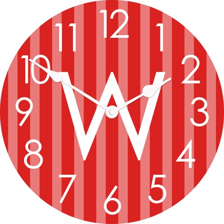 Vertical Ticking Stripes Wall Clock