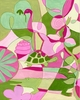Tickled Pink And Green Canvas Reproduction