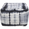 Tie Dye Pouf in Black and Gray