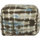 Tie Dye Pouf in Blue and Brown