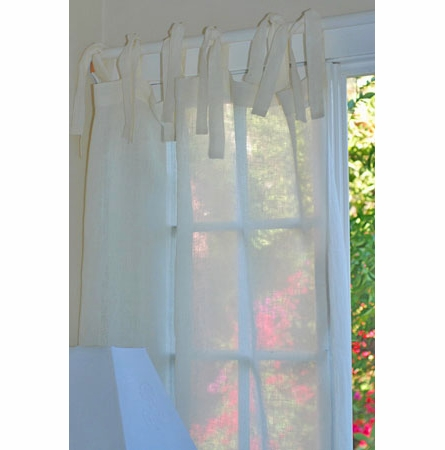 Tie Top Window Curtain