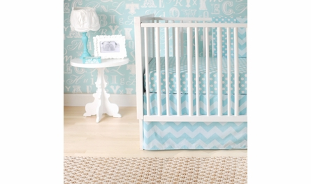 Tiffany Blue Dot Crib Sheet