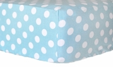 Tiffany Blue Dot Crib Sheet $(+54.00)