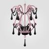 Tiffany Gloss Pink Black Crystal Chandelier