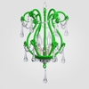 Tiffany Neon Green Clear Crystal Chandelier