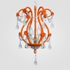 Tiffany Neon Orange Clear Crystal Chandelier