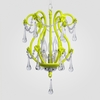 Tiffany Neon Yellow Clear Crystal Chandelier