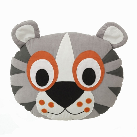 Tiger Cotton Throw Pillow
