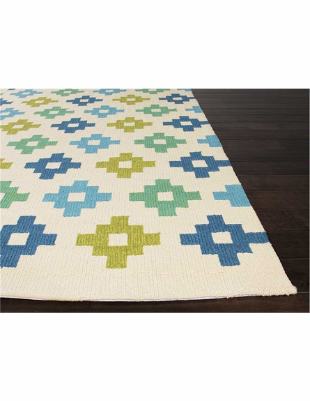Tile Work Indoor/Outdoor Rug in Beige