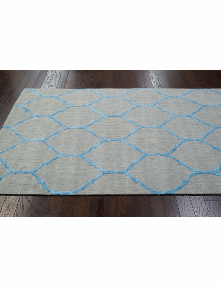 Tina Plush Cotton Rug Blue