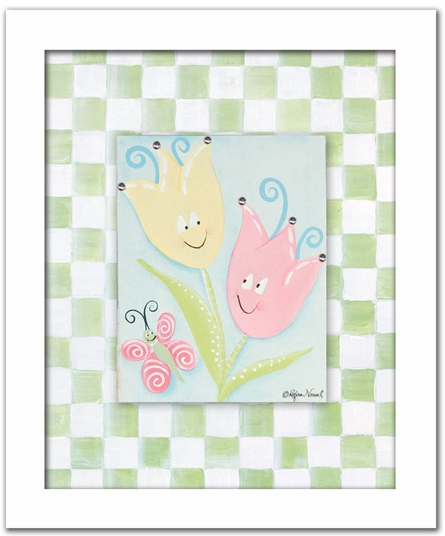 Tiptoe Tulips Personalized Canvas Reproduction
