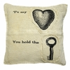 To My Heart You Hold Throw Pillow