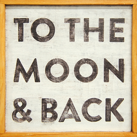 To The Moon And Back Vintage Framed Little Art Print