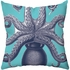 To The Sea Octopus Throw Pillow