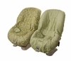 Toddler Car Seat Cover in Avocado Damask & Sage Minky