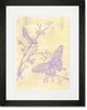 Toile Butterflies Framed Art Print