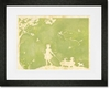 Toile Girl Pulling Wagon Framed Art Print