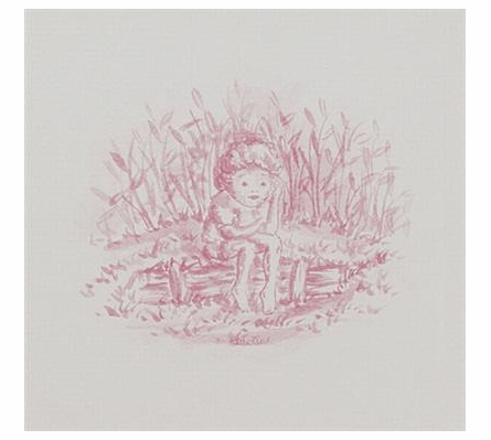 Toile Girl Sitting Art Print