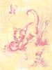 Toile Kitty Canvas Wall Art