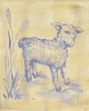 Toile Lamb Canvas Wall Art
