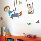 Tom on a Swing Wall Decal