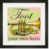 Toot Your Own Horn Framed Art Print